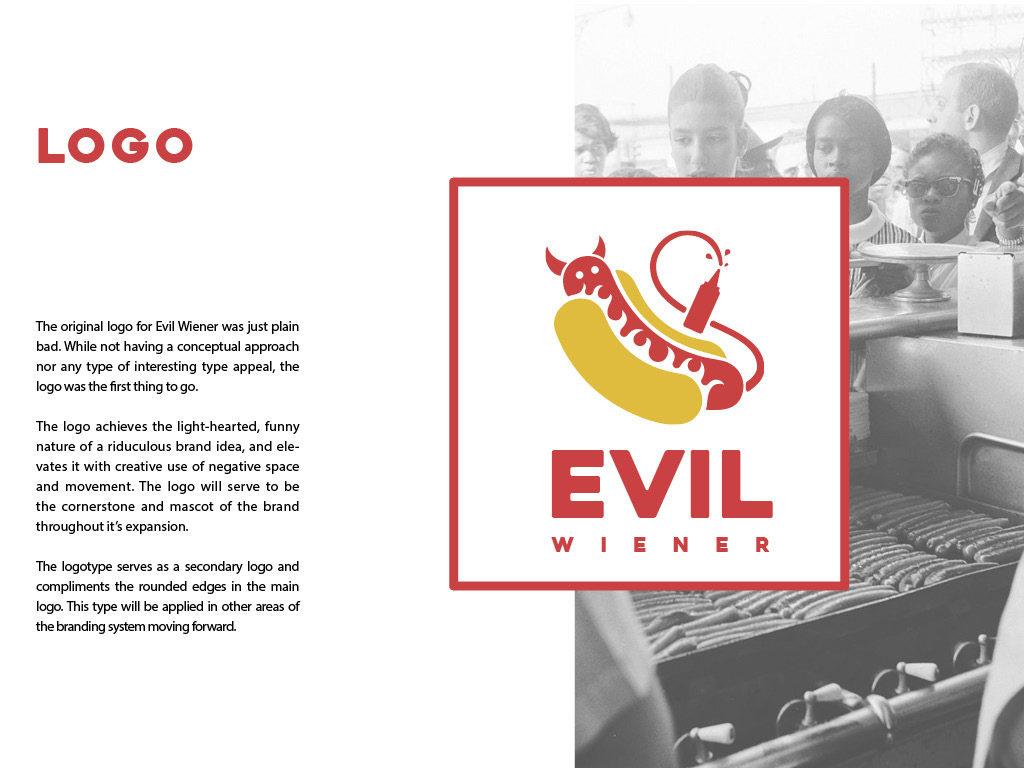 Branding -Evil Wiener Hot Dogs Food Truck