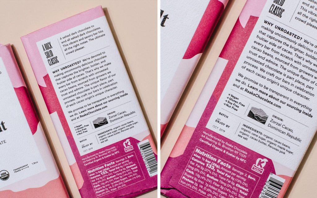 Raaka Verpackungsdesign