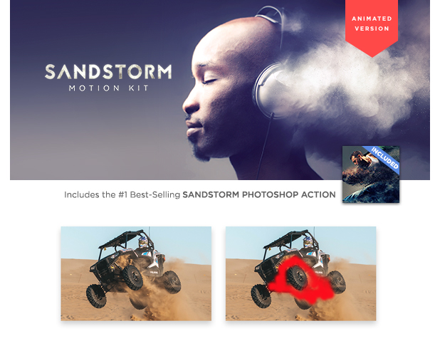 Sandstorm Photoshop Aktion
