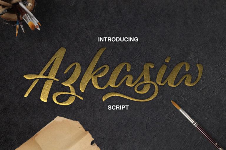 Azkasio, Kostenlose Brush Script Schrift