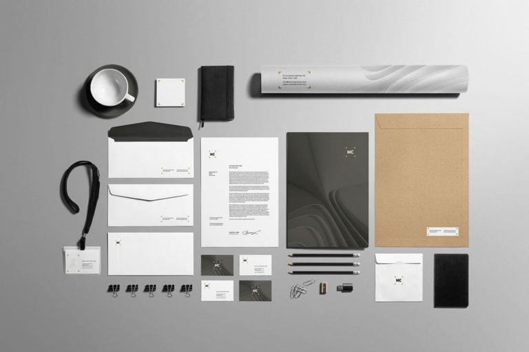 Branding und Business Mockup -Präsentationsvorlage für Drucksachen
