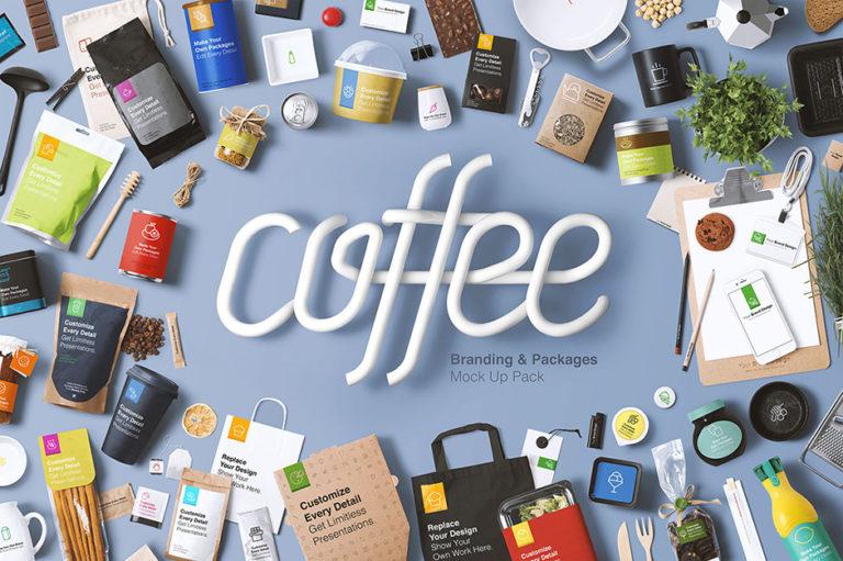 Coffee Branding Mockup - Präsentationsvorlagen für Coffeeshops