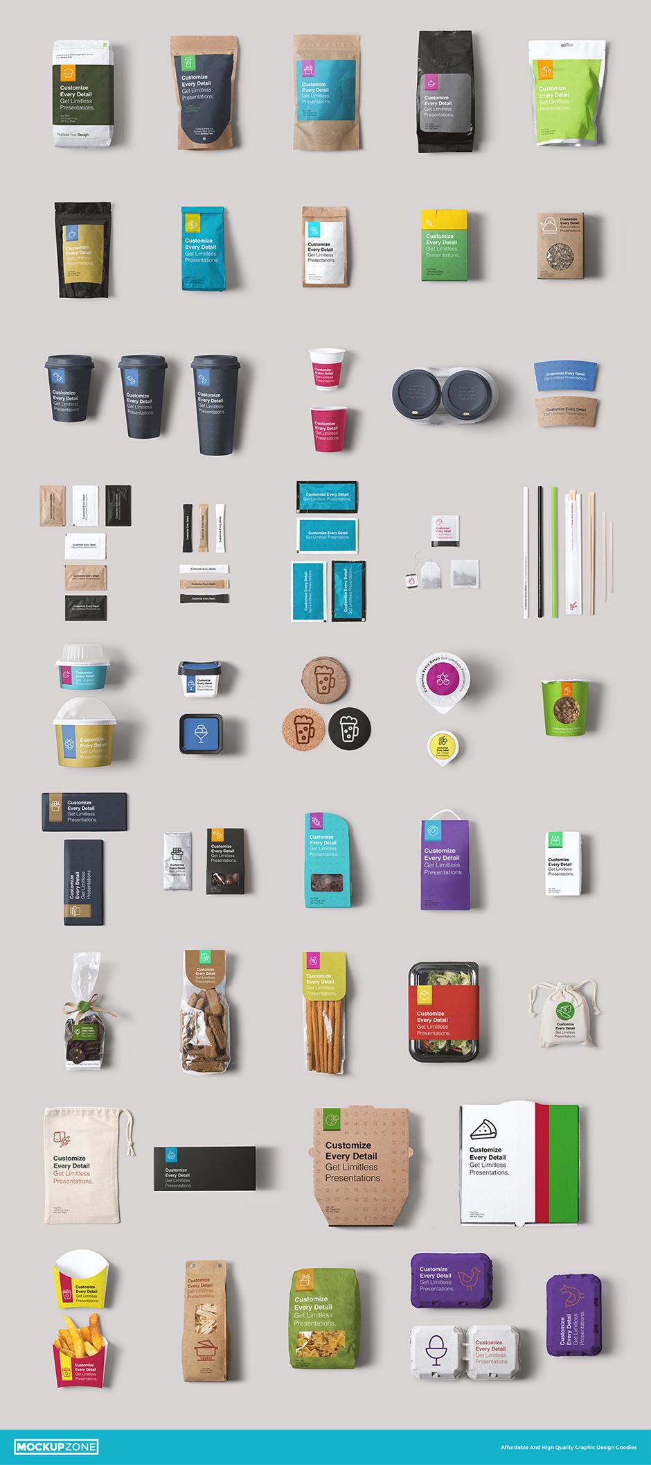 Packaging und Branign Mockups Verpackungsdesign