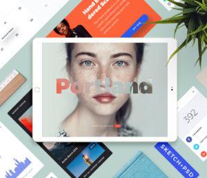 User Interface Design Kit für Photoshop und Sketch