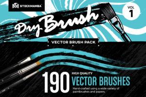 Dry Brushes Vektor Set- Trockene Pinsel für Illustrator als Vektor Datei