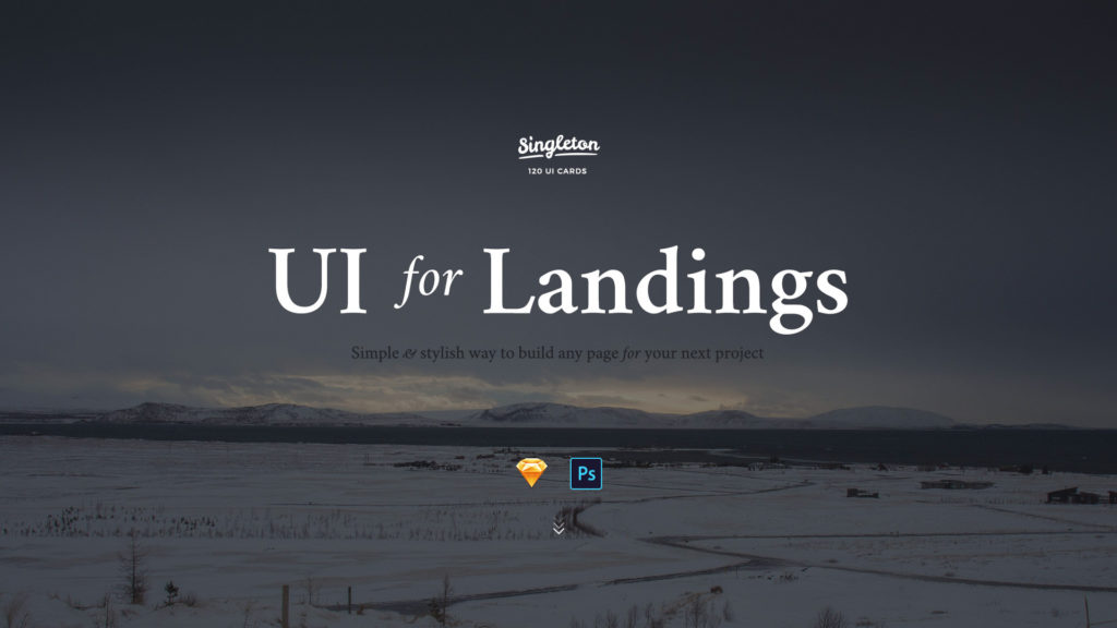 UI Design Kit für Landingpages