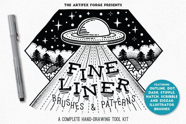 Fine Liner Photoshop Pinsel Set