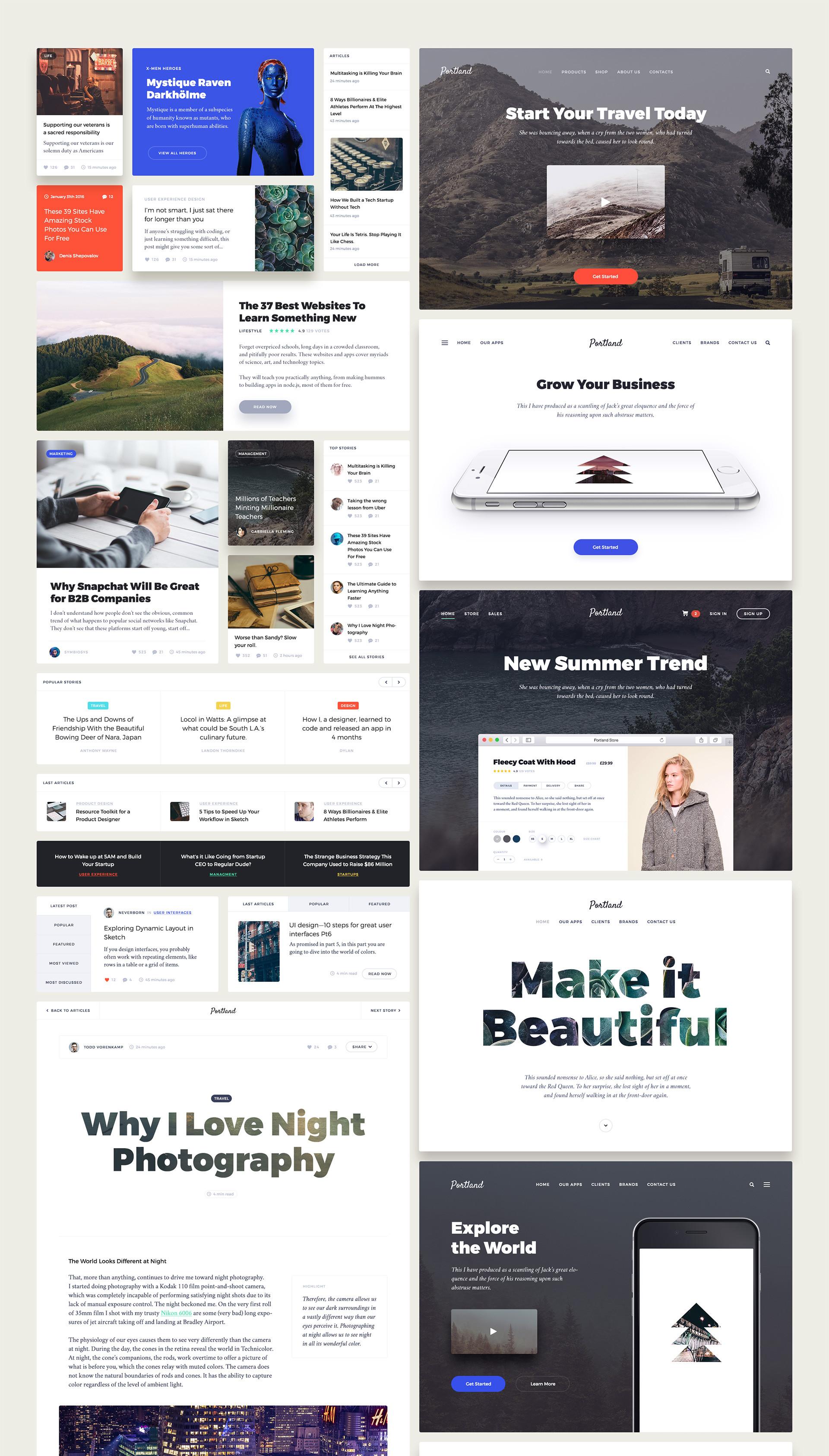 User Interface Design Kit für Photoshop