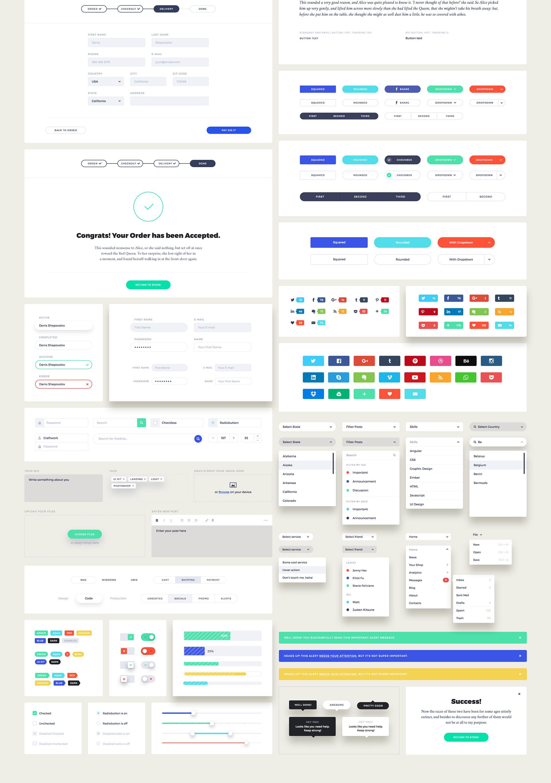 UI Design Kit - Elemente des User Interface Pakets