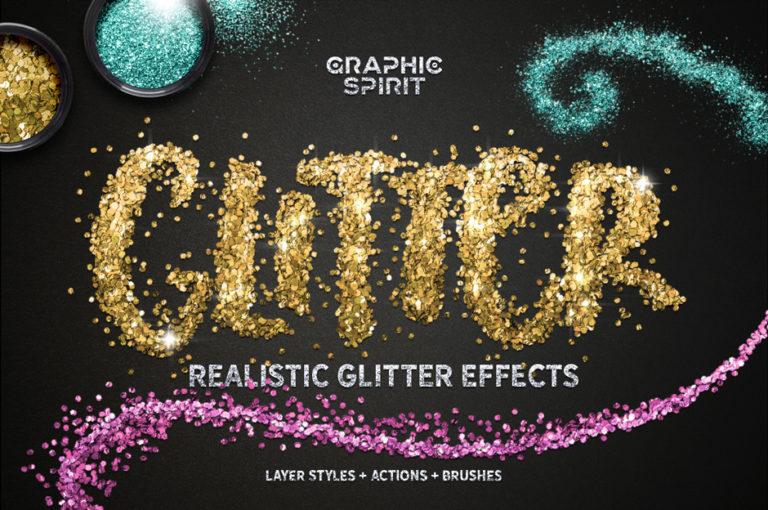 Glitter Effect Photoshop Toolkit main design habitat
