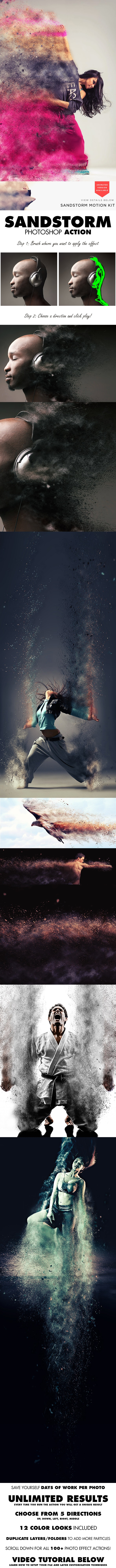 Photoshop Aktion Sandstorm