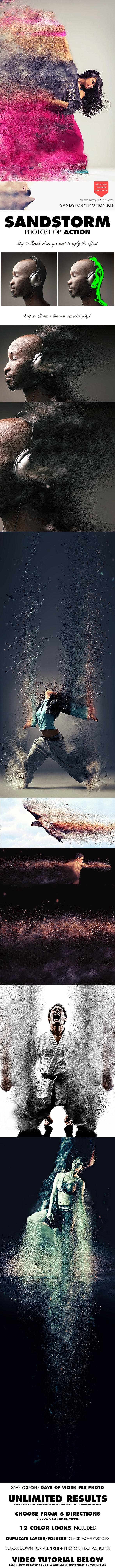 Photoshop Aktion Sandstorm