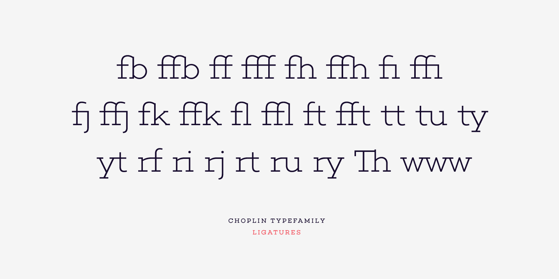 Choplin Slab Serif Font - Ligaturen