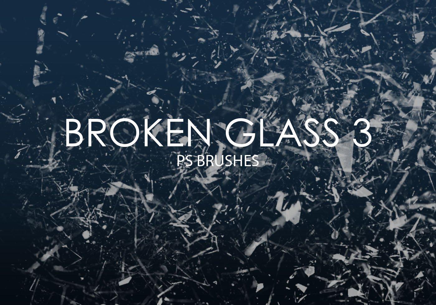 Photoshop Pinsel - Zersplittertes Glas