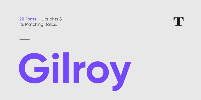Gilroy Font - Sans Serif