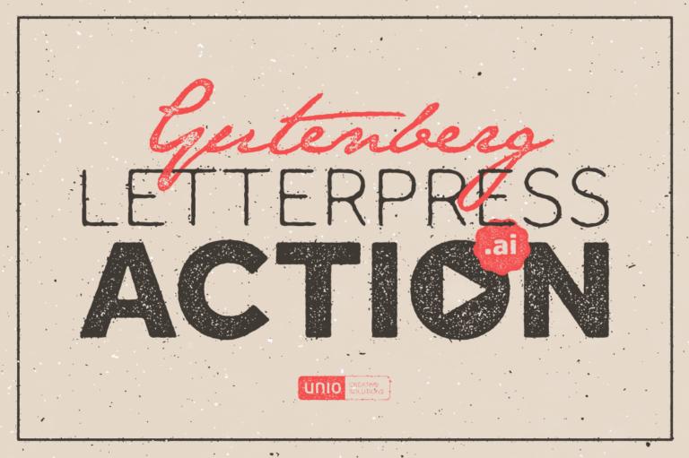 Illustrator Aktionen, Gutenberg Letterpress Aktion für Illustrator