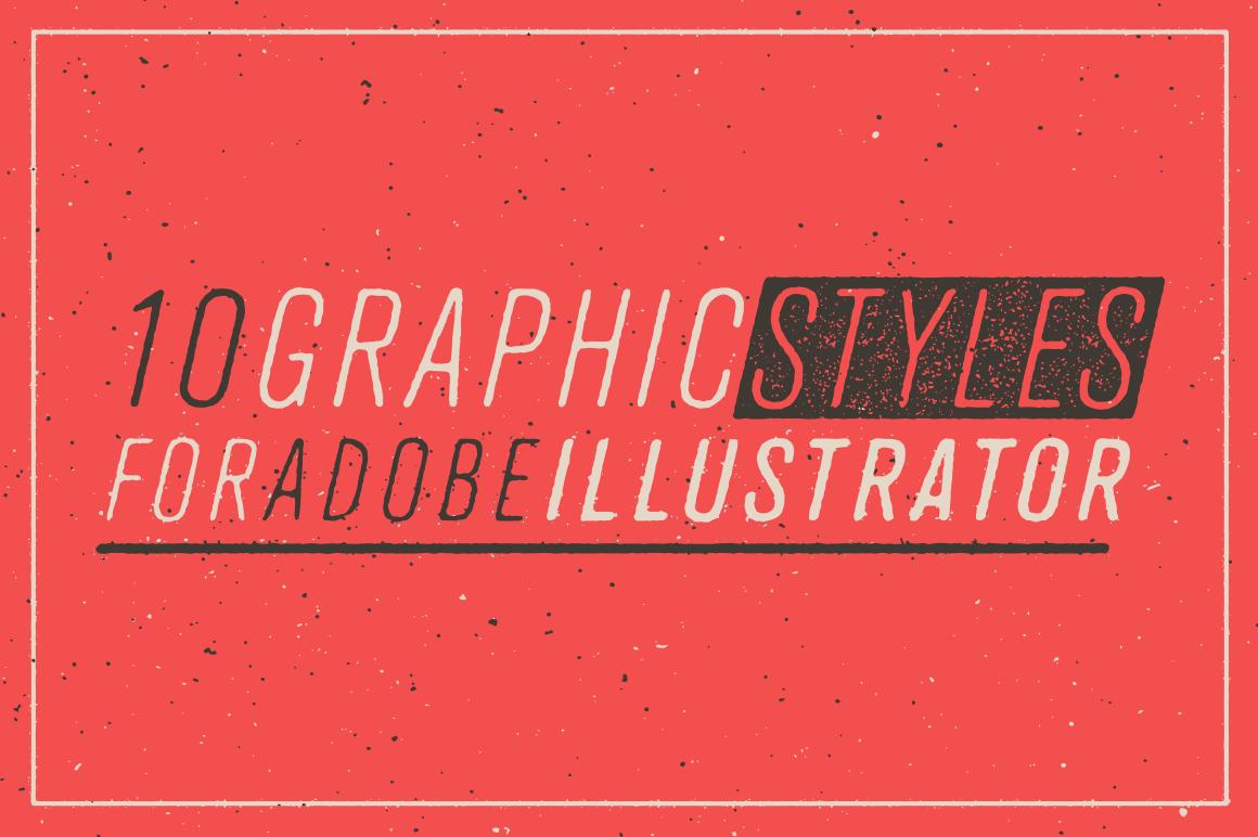 Illustrator Aktion, Letterpress Optik, Used Look