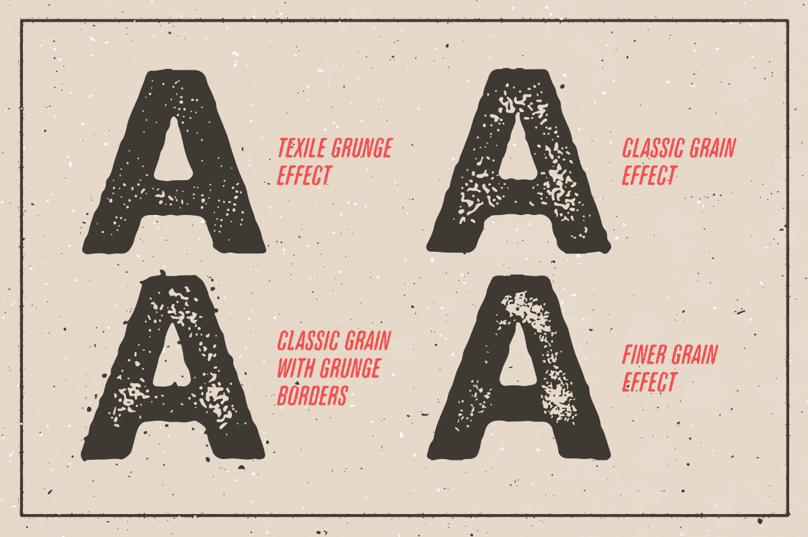 Illustrator Aktionen, Design Ressourcen, Gutenberg Letterpress Aktion für Illustrator
