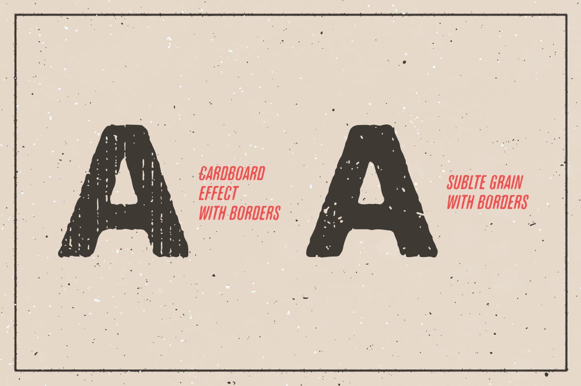 Cardpoard Effekt mit der Gutenberg Letterpress Illustrator Aktion