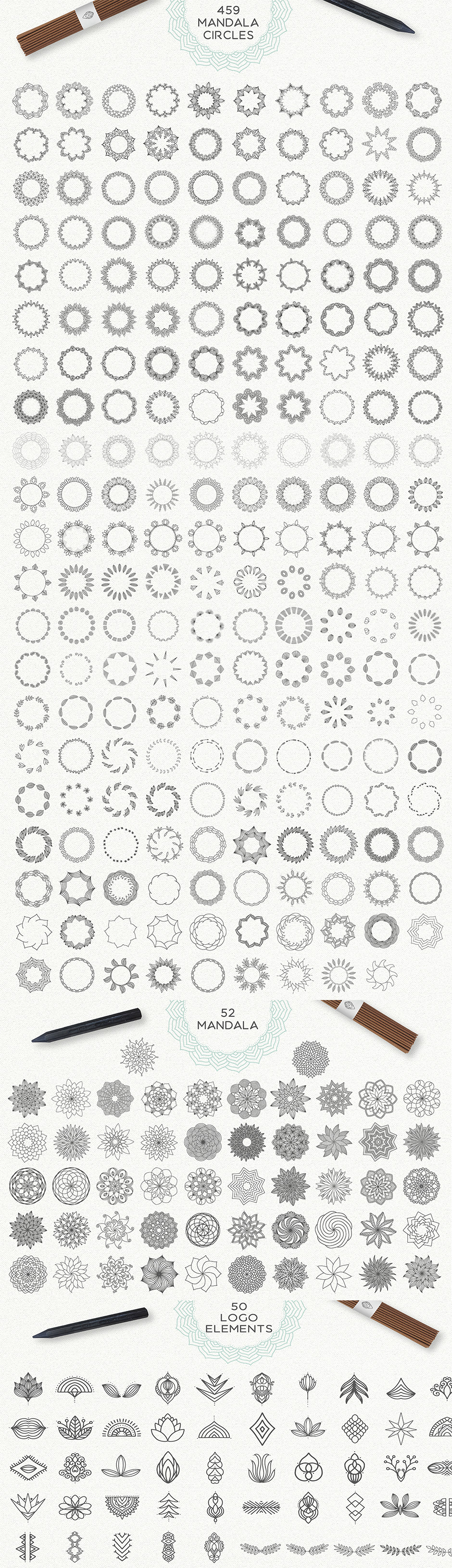 Mandala Vektor Illustrationen zum Download