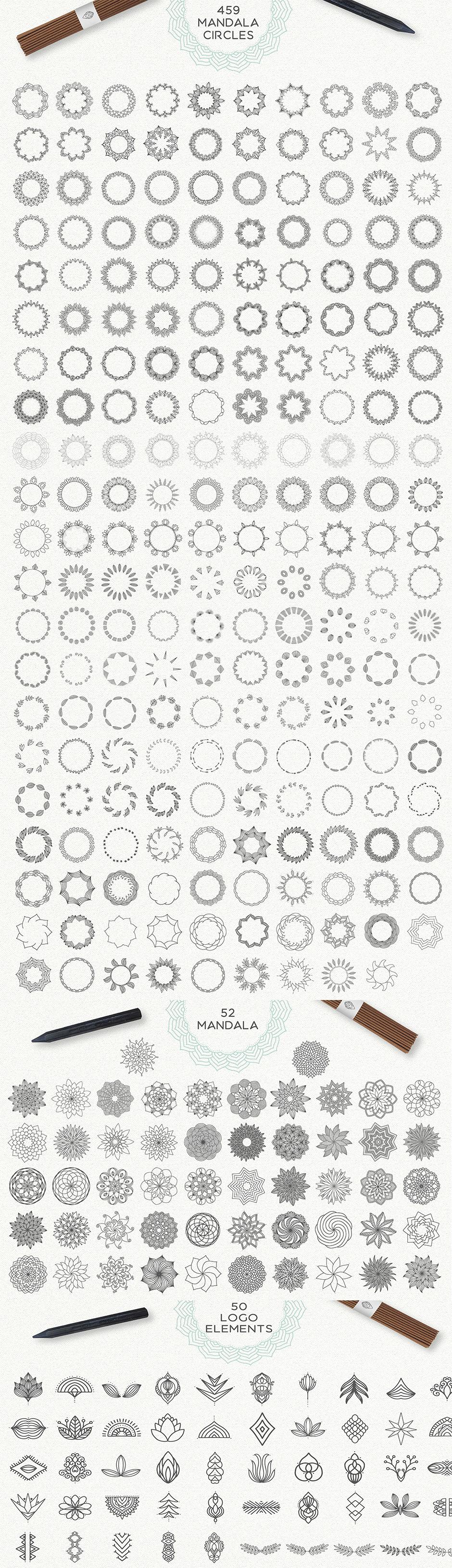 Mandala Vektor Illustrationen zum Download