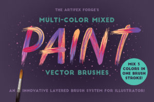 Multicolor Mixed Vektor Brush für Illustrator