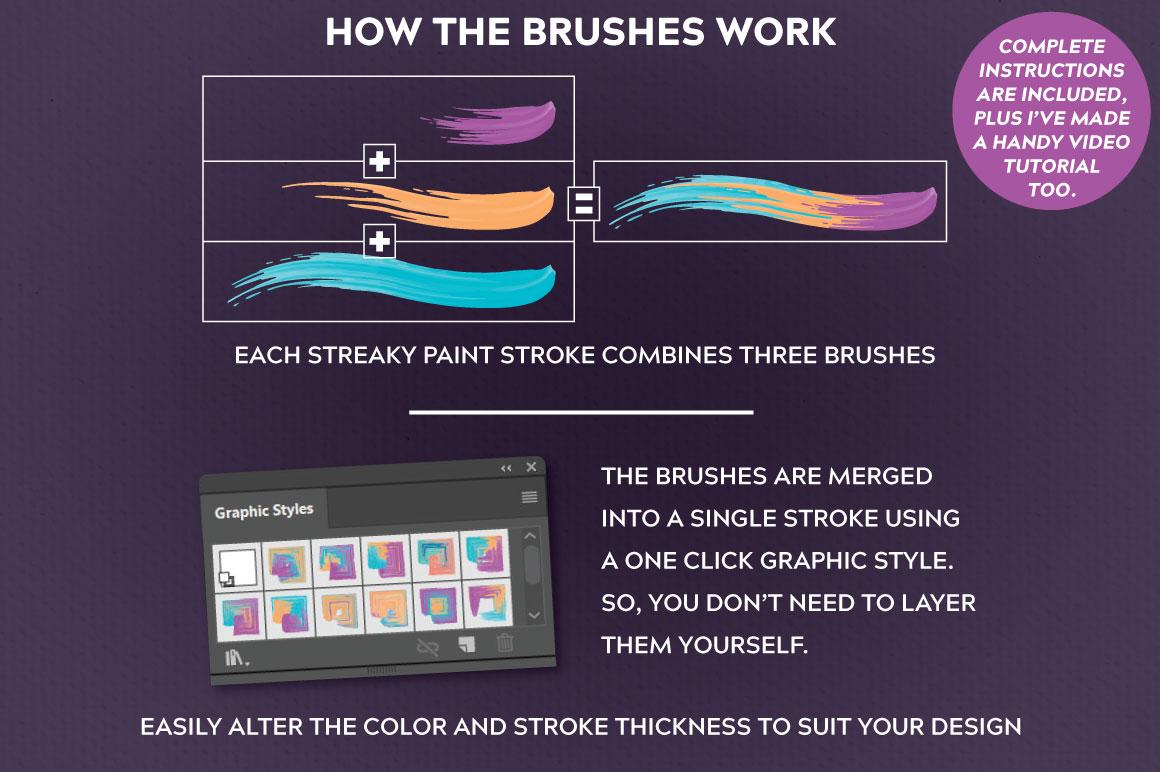 Multicolor Farbpinsel für Illustrator