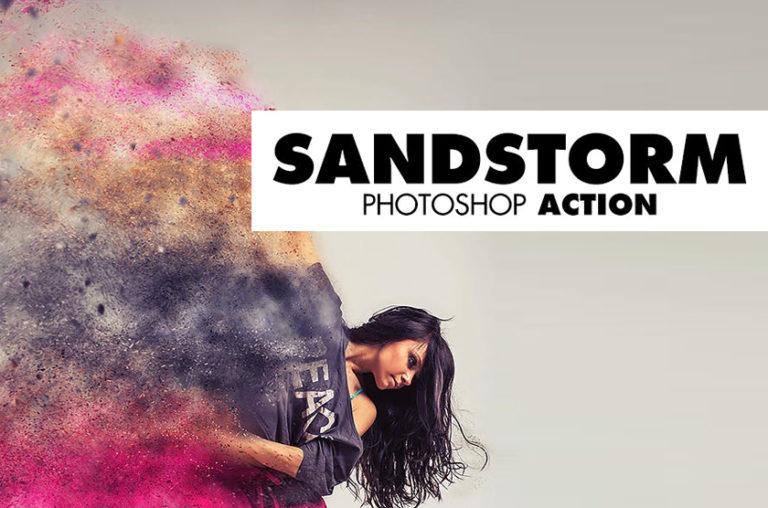 Sandstorm Photshop Aktion