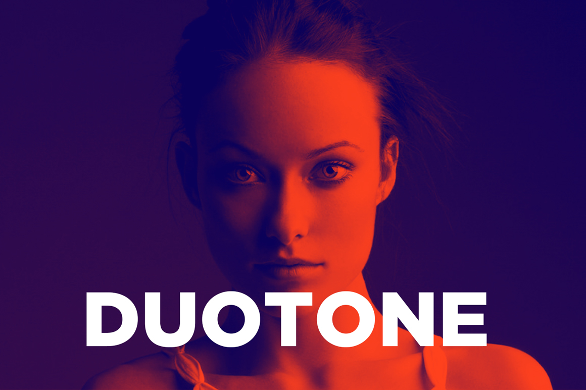 Freebies, Photoshop Aktion für Duotone Effekt