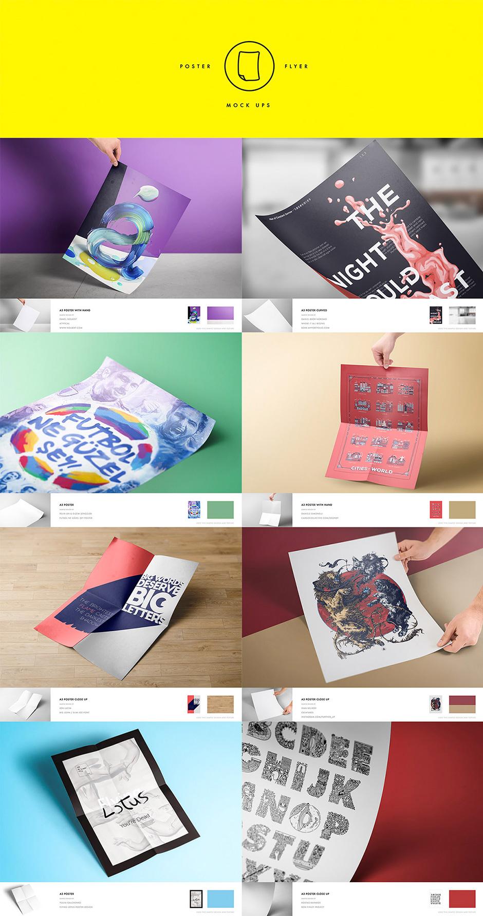 Poster Design Mockup für Designer
