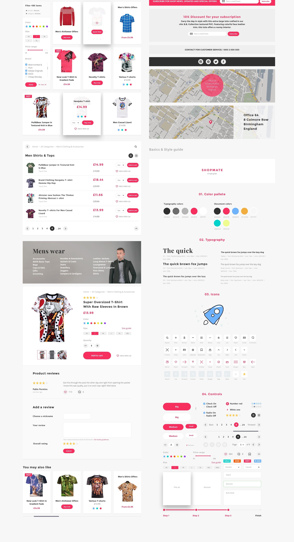 UI Design Paket für Online Shops