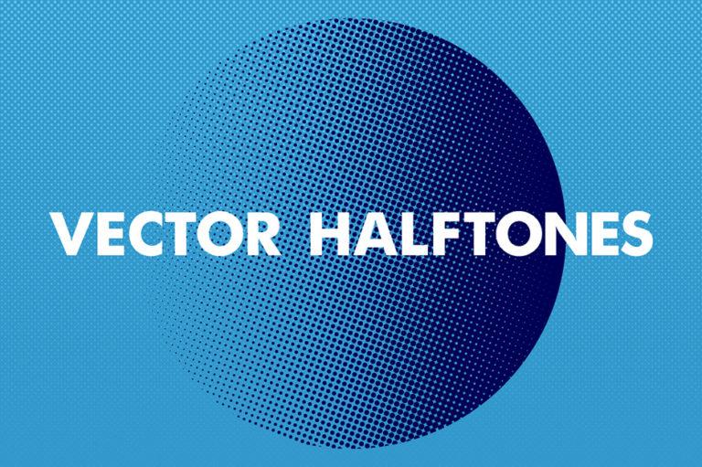 Vector Halftones Pack- Vektor Halbton Raster Paket
