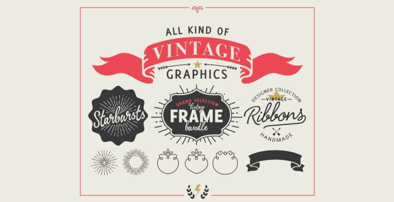 vintage vektor packet fuer designer design habitat