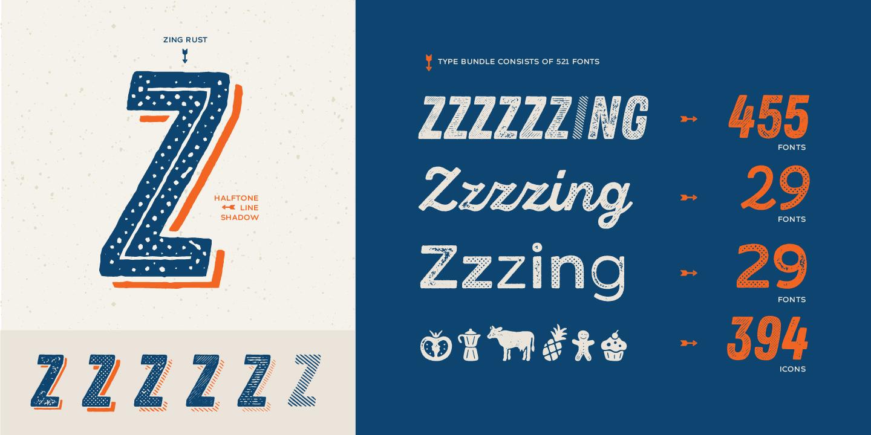 Zing Rust Font- Handgemachte Grunge Font