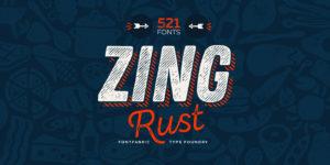 Zing Rust Font- Handgemachte Grunge Schrift