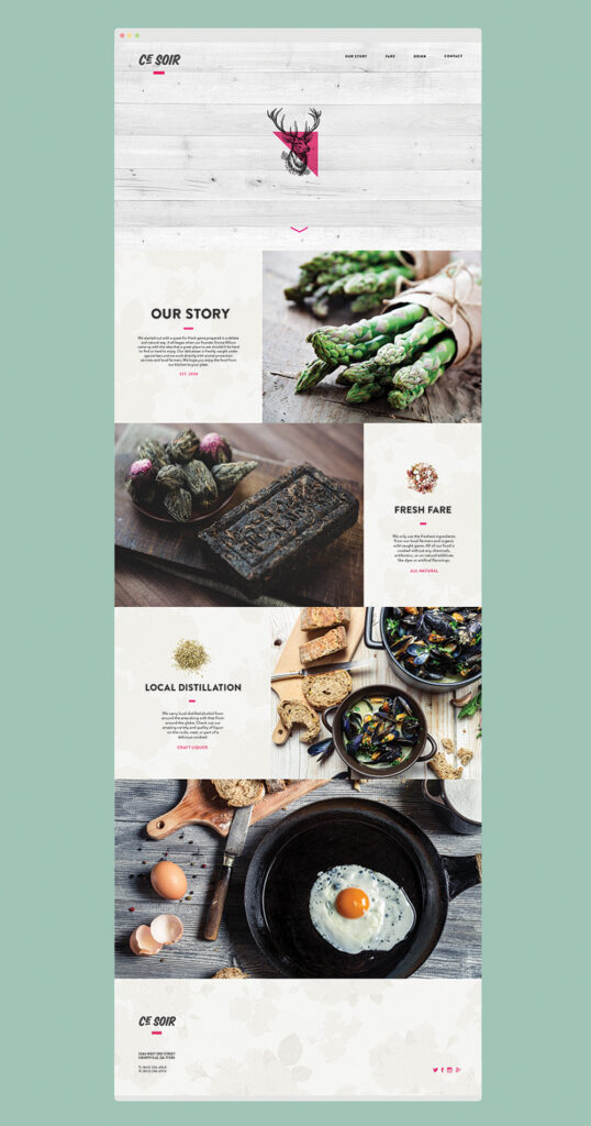 Webdesign Inspiration Ce Soir Restaurant