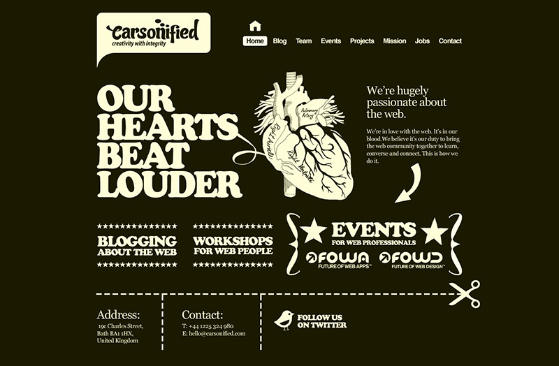webdesign inspiration carsonified mike kus design habitat