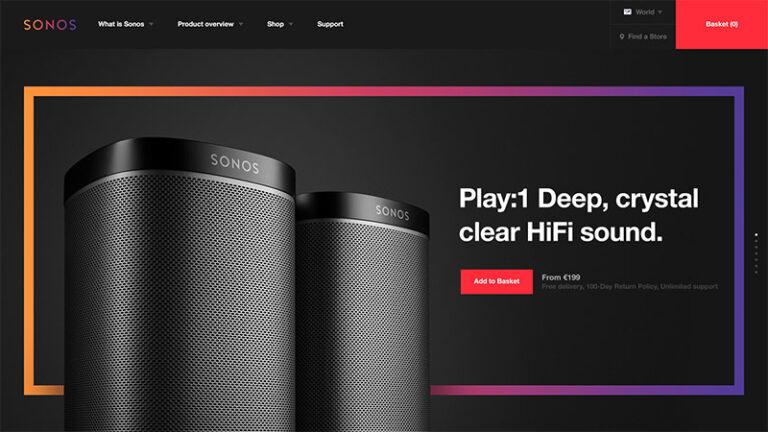 Webdesign Inpiration - sonos2