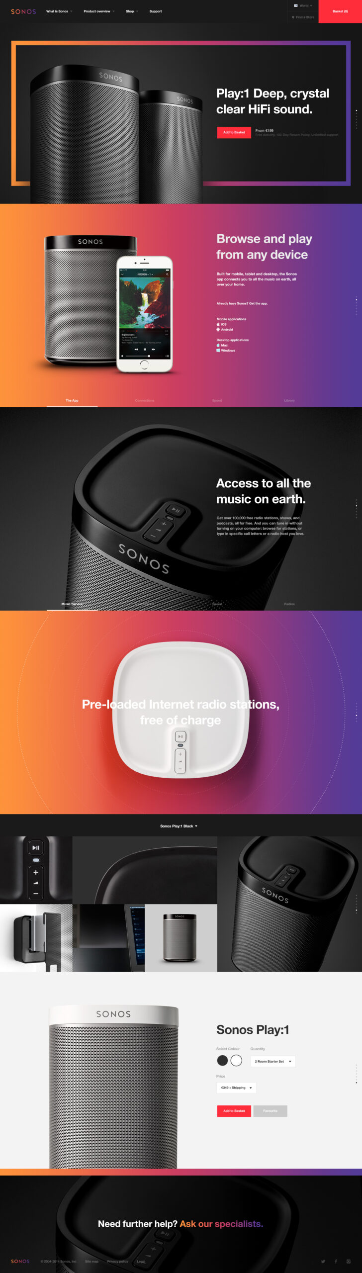 Webdesign Inpiration Sonos - rafaelkfouri.com