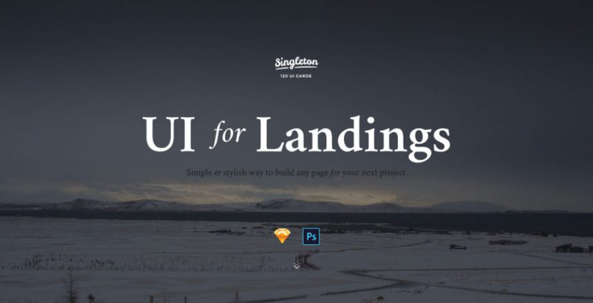UI Design Kit für Landingpages