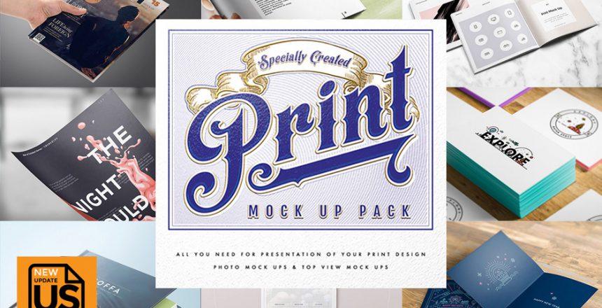 Print Design Mockup Präsentationsvorlagen Für Deine