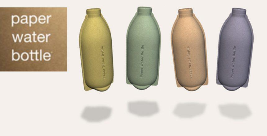 nachhaltiges Verpackungsdesign, papier wasser flasche